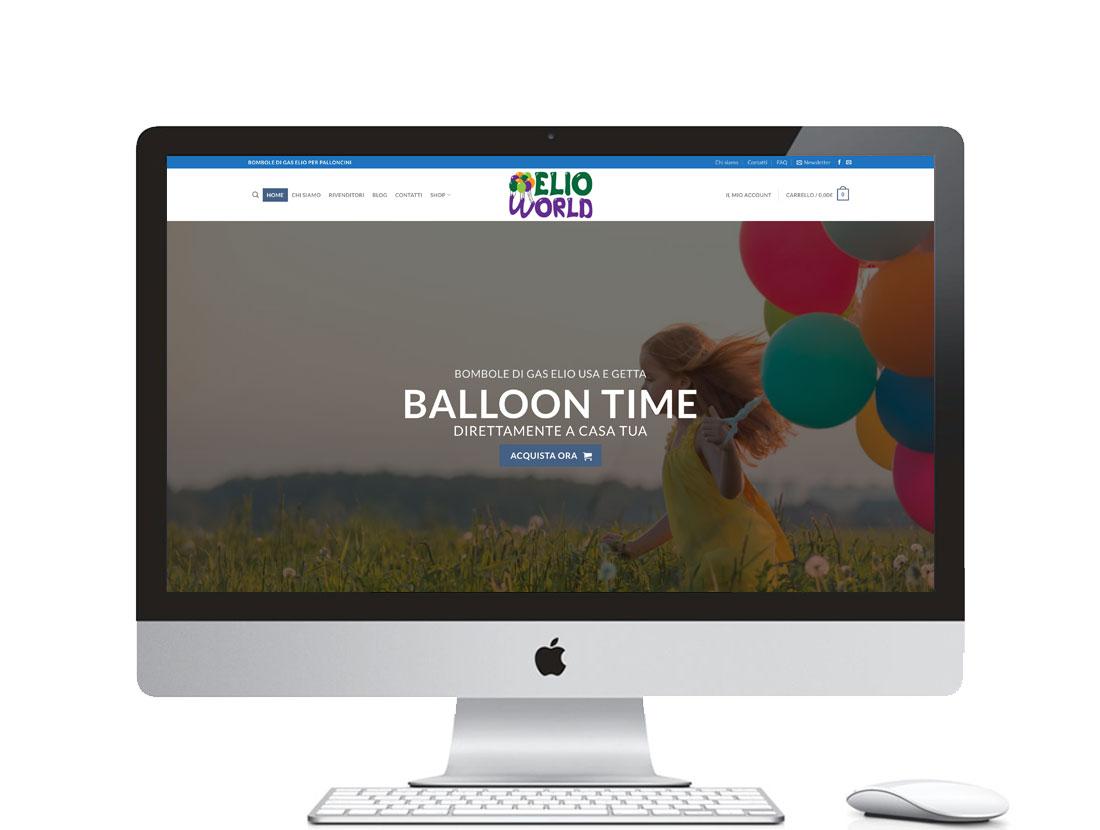 Sito ecommerce per vendita gas elio per palloncini