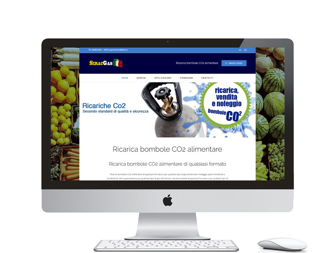 Realizzazione sito internet per azienda di gas alimentari