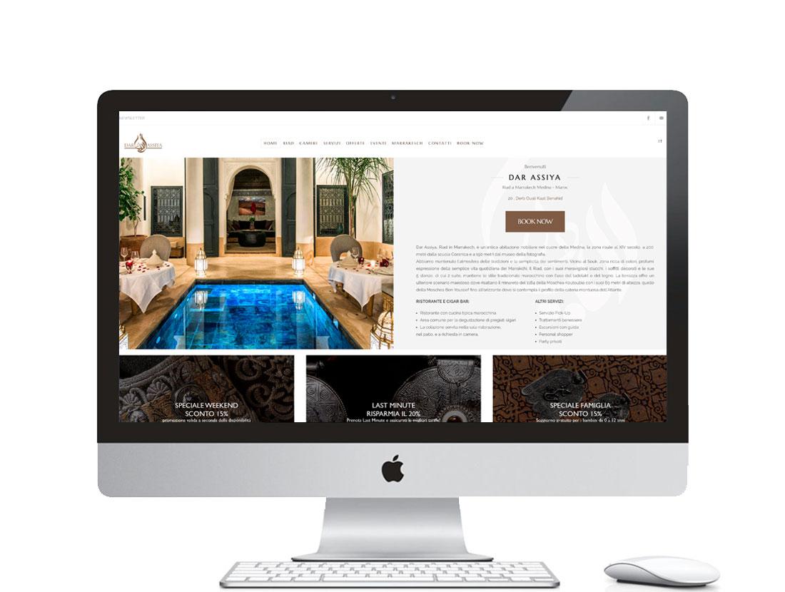Realizzazione sito internet per riad a Marrakech